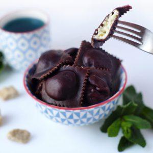 Заморожені равіолі з шоколадом та крем-сиром